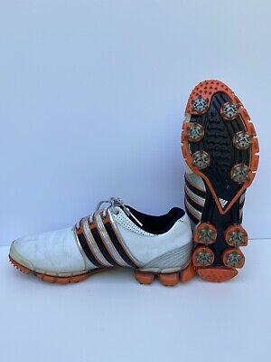 Mens 10 M Adidas Tour 360 ATV White Black Orange Golf Shoes   eBay