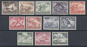 Germany Sc B218-B229 MNH. 1943 Army & Hero Day Semi-Postals, complete set