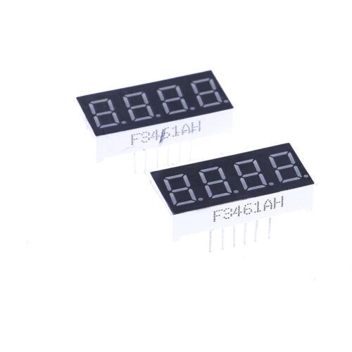 2pcs 0.36 inch 4 digit led display 7seg segment Common cathode Bright Red PipBSC