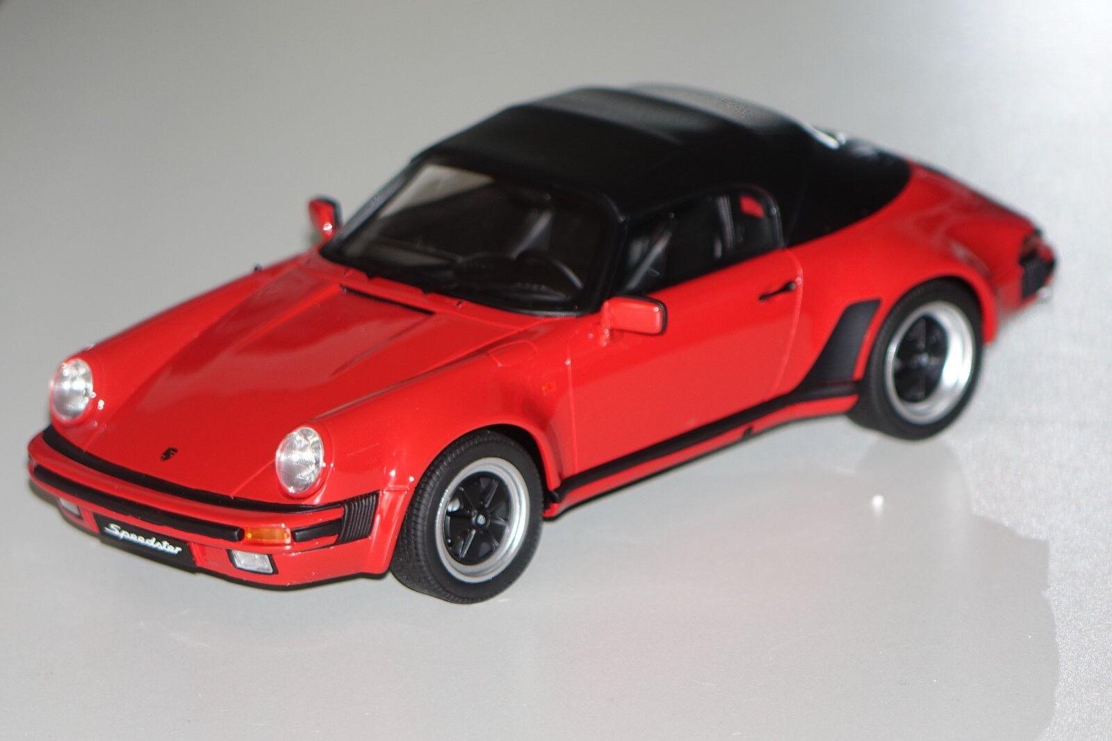 911 PORSCHE 3,2 Speedster con Softtop ROSSO 1:18 resin GT-SPIRIT gt130 NUOVO & OVP