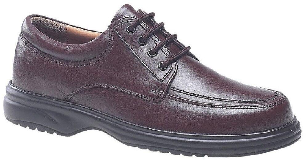 Roamers Garde-boue M706 Cravate En Cuir 4 œillets Léger Chaussures De Loisirs Marron Cuir