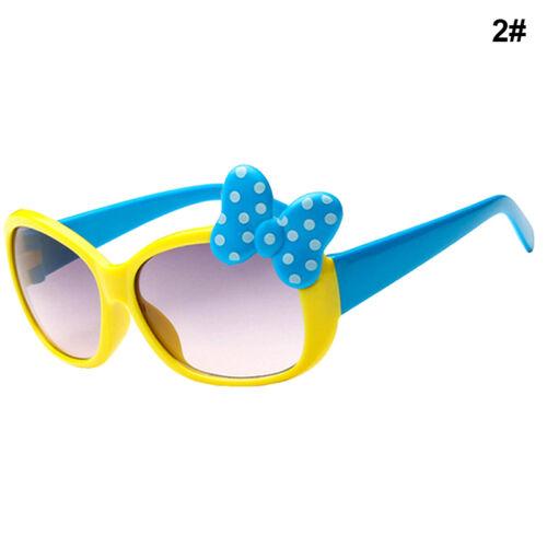 Kinder Mädchen Jungen Anti-UV Bogen Gläser Sonnenbrillen Cartoon Gläser 8 f R8O6