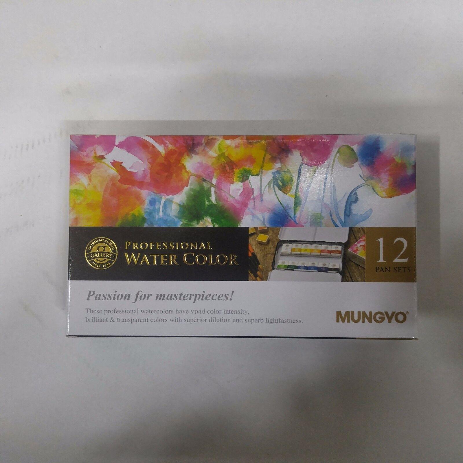 watercolor paint mungyo professional pans set 12 color mwph 12c ebay