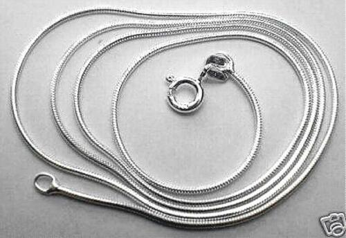 """0.9MM SOLID 925 STER SILVER ITALIAN HIGH POLISH ROUND SNAKE CHAIN NECKLACE 16/"""""""