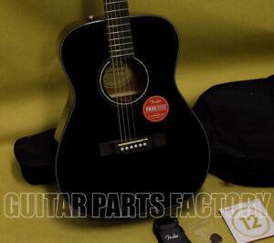097-0150-406 Fender CC-60S Concert Acoustic Guitar Pack Black Start Playing! NEW