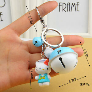 Collectibles New Hello Kitty Key Chain The Bell Key Chain Toy Gift 12