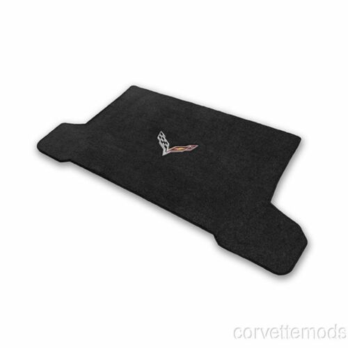 Lloyd Ultimat Crossed Flags Cargo Mats Black C7 Corvette Stingray//Z06 2014