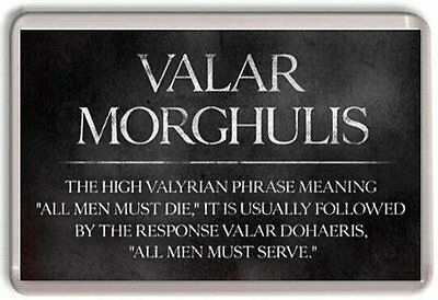 Valar Morghulis Game Of Thrones Crown Fridge Magnet