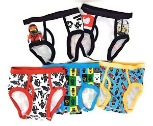 Lego The Ninjago Movie 3 Pack Boys Kids Youth Boxer Briefs Size 8 10