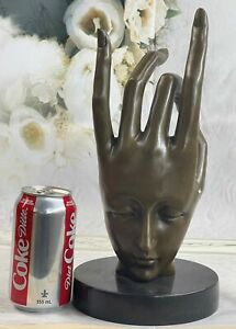Hand Made Rare Salvador Dail hand by Lost wax Method Bronze Classic Sculpture