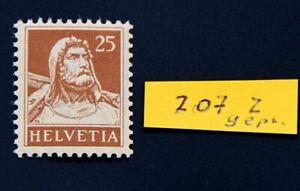 SCHWEIZ-Michel-Nr-207-z-tadellos-postfrisch-bestens-geprueft-Abt-BPP-250-Euro