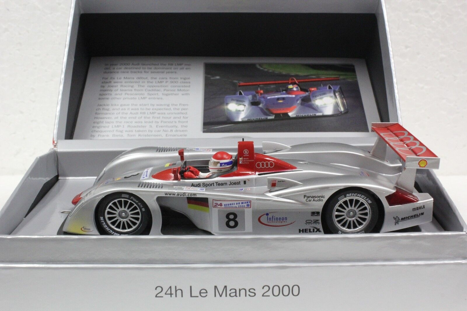 SLOT IT SICW19 AUDI R8 LMP WINNER LE MANS 2000 NEW 1 32 SLOT CAR IN LTD ED BOX