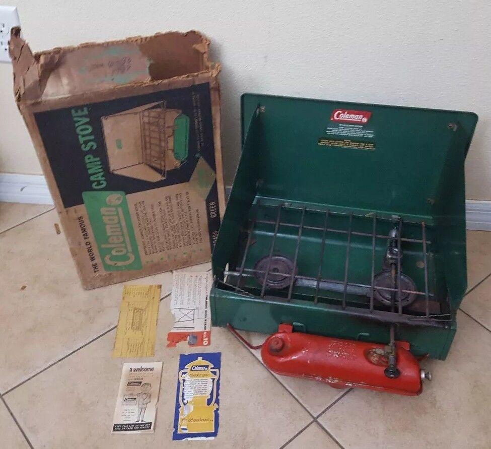 Vintage Coleman  Camp 2 Burner Stove 425D orignal box green  online at best price