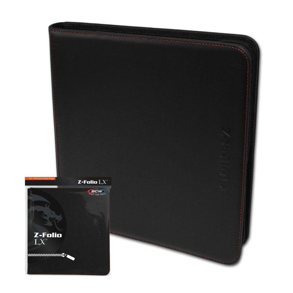 480 Card Binder-Magic Docsmagic.de Premium 12-POCKET Playset Zip-Album Black