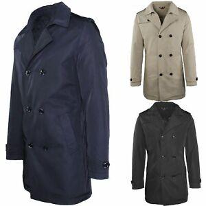 Trench-Uomo-doppio-petto-Invernale-Impermeabile-Elegante-Cappotto-Lungo-Classico