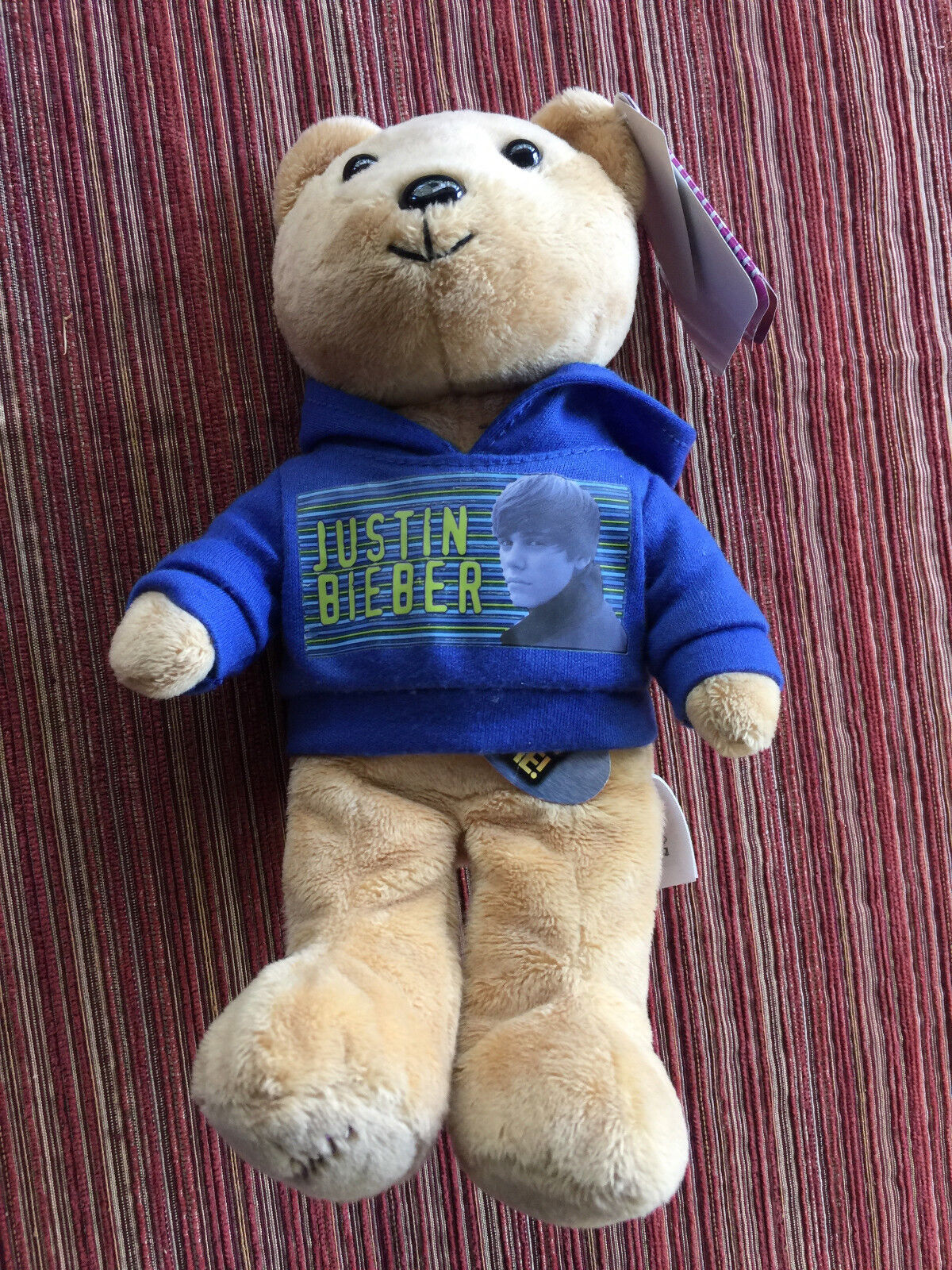 Justin Bieber Collectible Bear SInging Musical Plush Stuffed Concert Souvenir