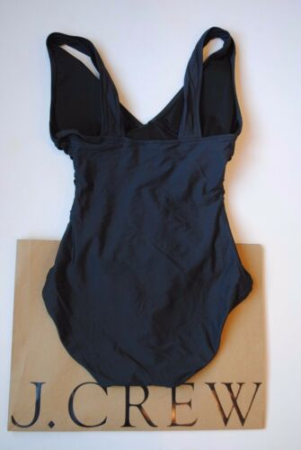 Details about  /NWT J Crew Ruched Femme Tank Dark Charcoal Sz 2 Extra Small B6819 Classic $98