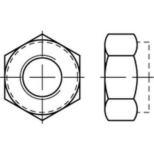 100 x  Sechskantmuttern,galvanisch verzinkt DIN 985-8//M14,selbstsichernd  VE100