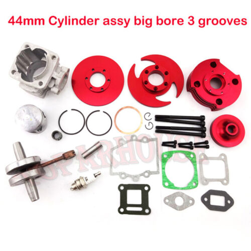 Red 44mm Big Bore Kit Cylinder 2 Stroke 47cc 49cc Mini moto Dirt Pocket Bike ATV