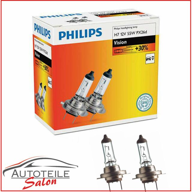 1x Philips Vision H7 Halogenlampe 12972PRC2 Doppelpack SET Duo 2x H7