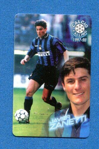 ZANETTI CALCIO CALLING 1997-98 -Panini- Phone Card n INTER 54