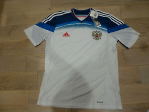 buy online 3e408 61918 Details about NWT Adidas 2014 World Cup Russia White Away Jersey (Men Size  Large)