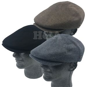 Details about Premium 100% Wool Men s Thick Cabbie Newsboy Paperboy Snap  Brim Flat Ivy Hat Cap 55f0f8f63e27