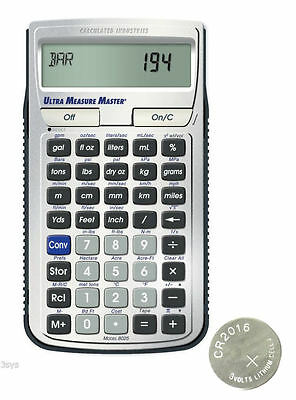 Calculated Ind ConversionCalc Plus Calculator 8030 w//Spare CR2016 Battery