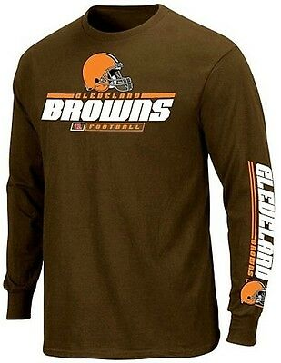 Cleveland Browns NFL Apparel 2 Hit Long Sleeve Shirt Brown Big & Tall Sizes