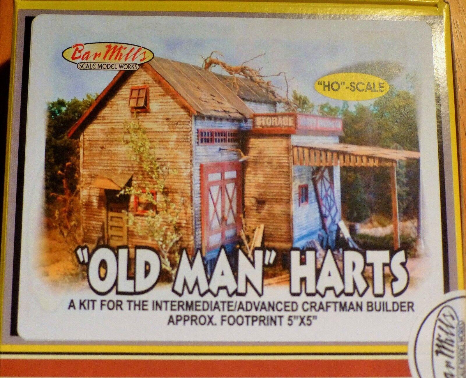 Bar Mills (HO Scale) Viejo Hart's -- Kit - 7-1 2 X 8-1 2  19.1 X 21.6 Cm