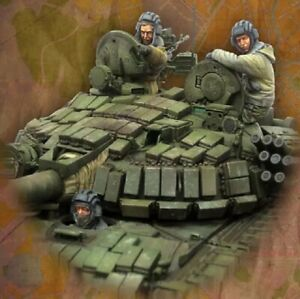 1-35-Resin-Figure-Model-Kit-Modern-Soldiers-Crew-of-the-Russian-T-72-Unpainted