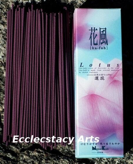Ka Fuh Lotus Incense 120 Sticks Low Smoke Natural Incense Nippon Kodo