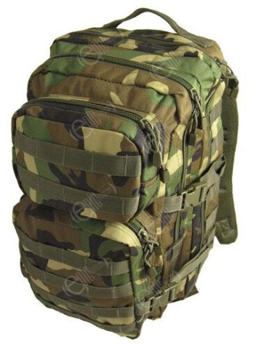 Woodland camouflage molle sac à dos assault grand sac à dos armée tactique 36L jour pack