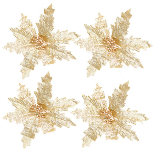 "NEW 18cm//7.08/"" Glossy Artificial Flowers Bright Colors Christmas Xmas Tree Decor"