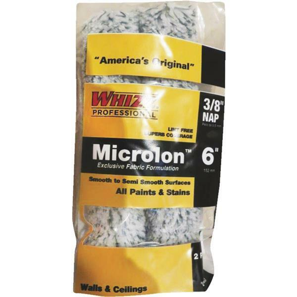 10-Whizz Microlon 6  x 3 8  Nap Specialty Paint Roller Cover Sleeve 2 Pk 78016