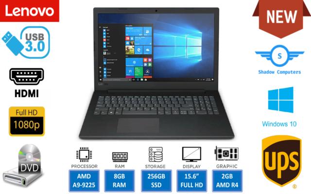 Lenovo V110 Laptop 15 6 Amd A9 9410 8gb Ram 256gb Ssd Dvdrw Bt Black For Sale Online Ebay