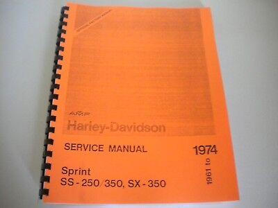 Harley-Davidson Aermacchi 1961 To 1974 250 & 350 Sprint Shop Service Manual    eBayeBay