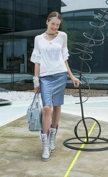 ELISA CAVALETTI T-Shirt Bianco Gr. S, M, L Sommer 2019