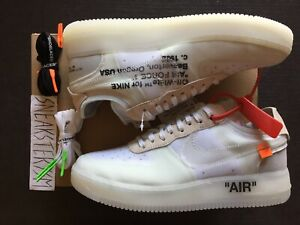 Nike The 10 Air Force 1 Low 'Off White' AO4606 100 Size
