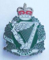 ROYAL IRISH REGIMENT LAPEL PIN OR WALKING STICK MOUNT