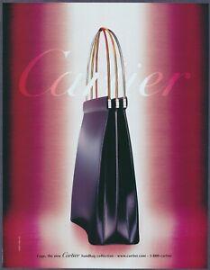 Cartier Cage Collection Black Handbag Vintage Magazine Print Ad 2001
