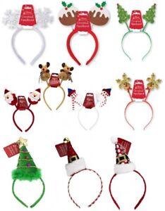 Xmas Kids Novelty Adult Antlers Headband,Reindeer,Star Santa,Snowman Head Bopper