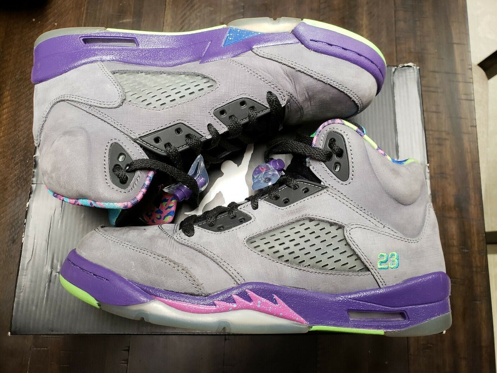 Air Jordan Retro 5 Bel Air Size 7y OG BoX