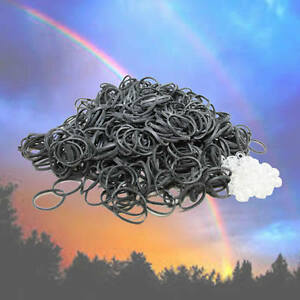 SILVER Color REFILL 600 RUBBER BANDS for Rainbow Loom & 25 clips Ships Free
