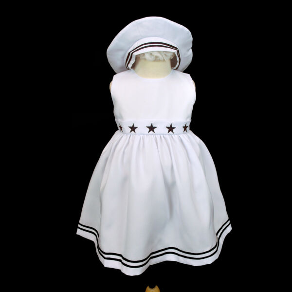 New Baby Girl Sailor Nautical Holiday Party Formal Dress Outfits Sz