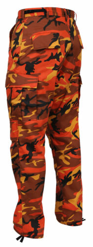 Rothco Camoflage Cargo Pantaloni Uomini militare Camo Arancione Bdu Fatica Savage fPxawxTEq