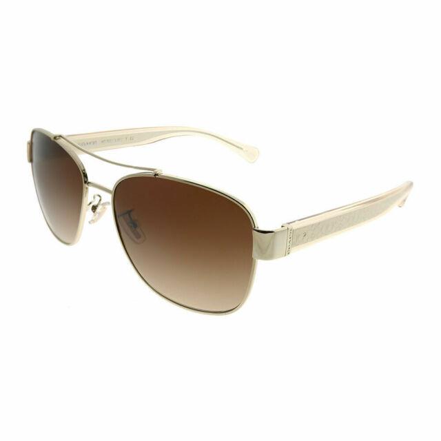 54935d706 Coach L151 HC 7064 926513 Lite Gold Crystal Brown Sunglasses Brown Gradient  Lens