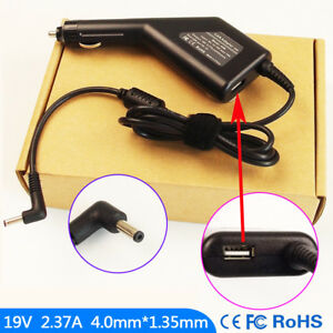 Laptop-DC-Adapter-Car-Charger-USB-For-ASUS-E402-E402M-E402MA-E402SA