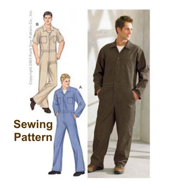 Kwik Sew 3389 Men\'s Boiler Suit Overalls Coveralls Workwear Sewing ...