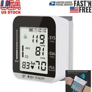 Automatic Wrist Blood Pressure Digital Monitor BP Cuff Heart Rate Pulse Tester